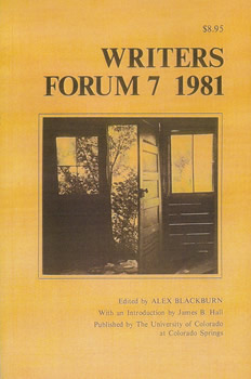 Writers' Forum Volume 7 by Alexander Blackburn