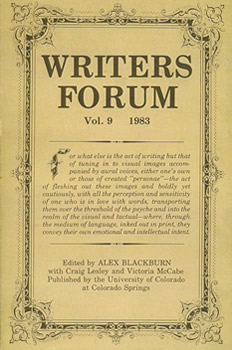 Writers' Forum Volume 9 by Alexander Blackburn