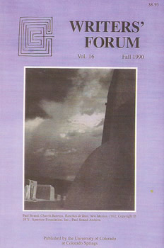 Writers' Forum Volume 16 by Alexander Blackburn